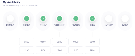 availability schedule