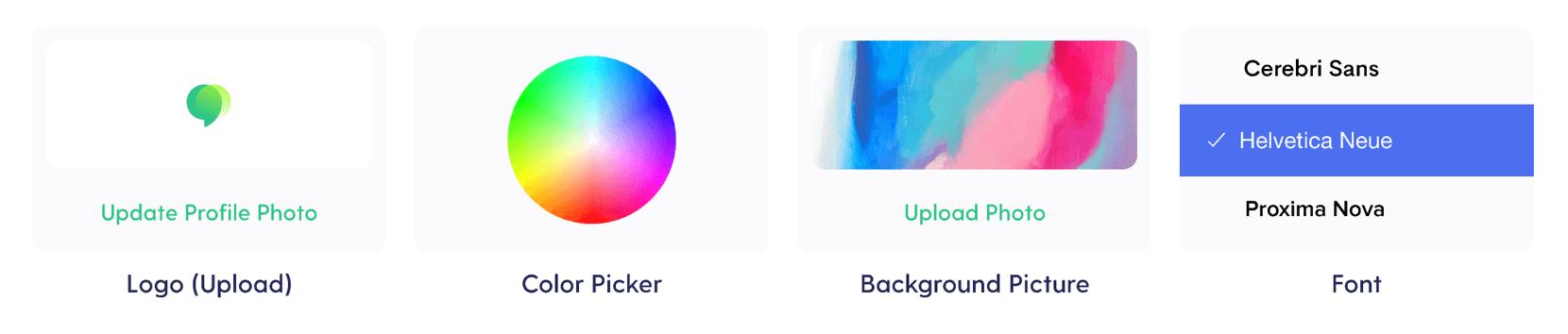 customize your profile widget